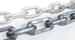 Steel chains for scraper conveyors